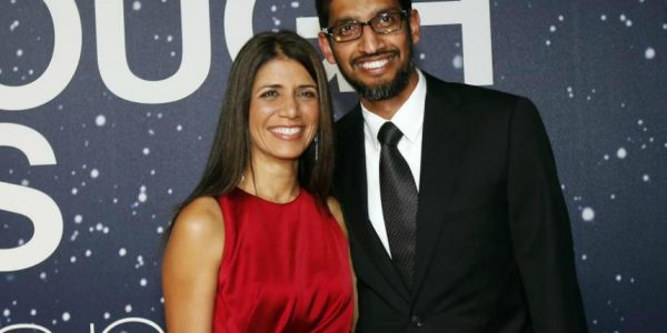 Anjali Pichai with her husband
