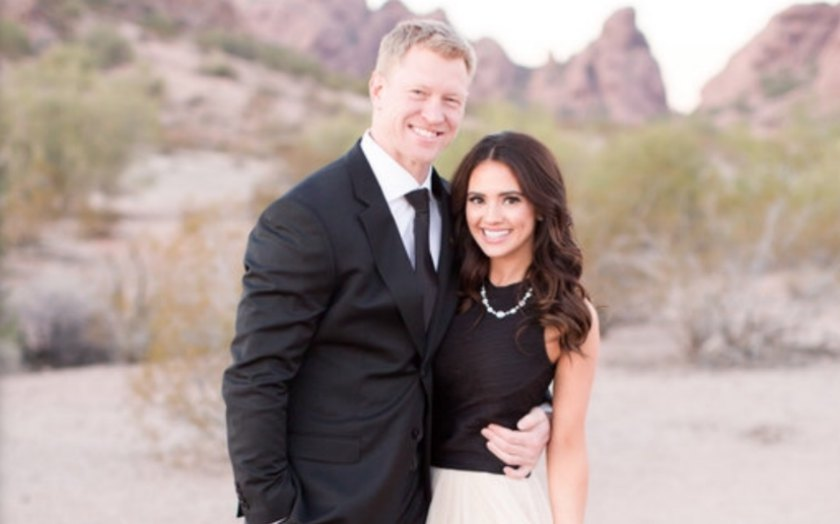 Scott Frost with his wife, Ashley Frost