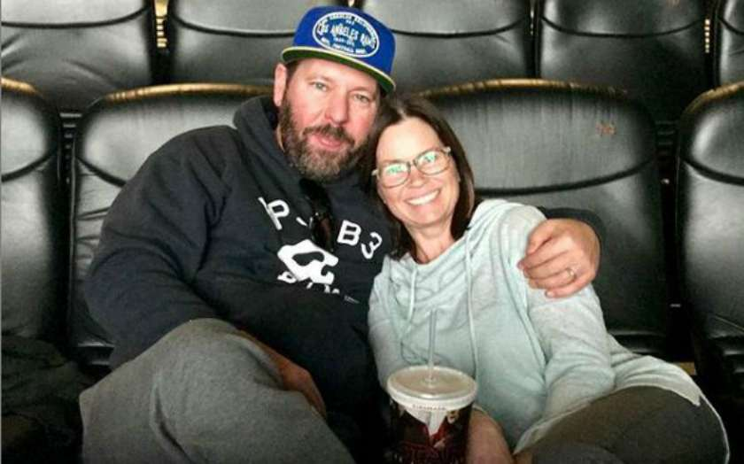 Bert Kreischer with his wife, LeAnn Kreischer
