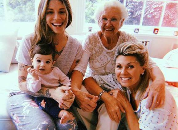 Christina Perri with her family