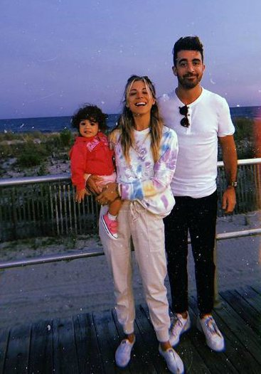 Christina Perri with her husband, Paul Costabile and daughter, Carmella Stanley Costabile