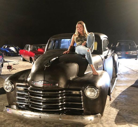 Mallory Gulley with her car collection
