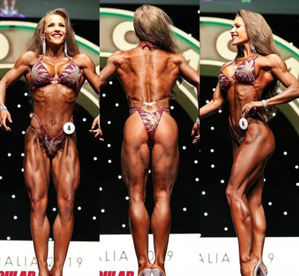 Terry Hollands's wife Kate Errington showing her body in competition
