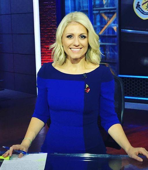Rebecca Lowe reporting news