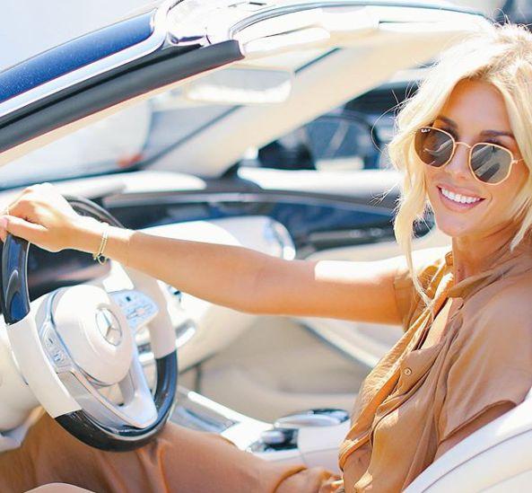 Charissa Thompson driving her millions worth car