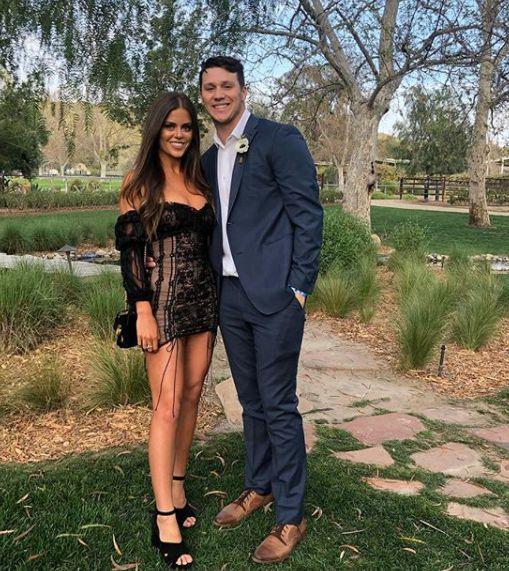 Josh Allen with her girlfriend