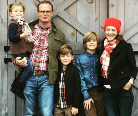 Drew Beachley Hubbard with her family