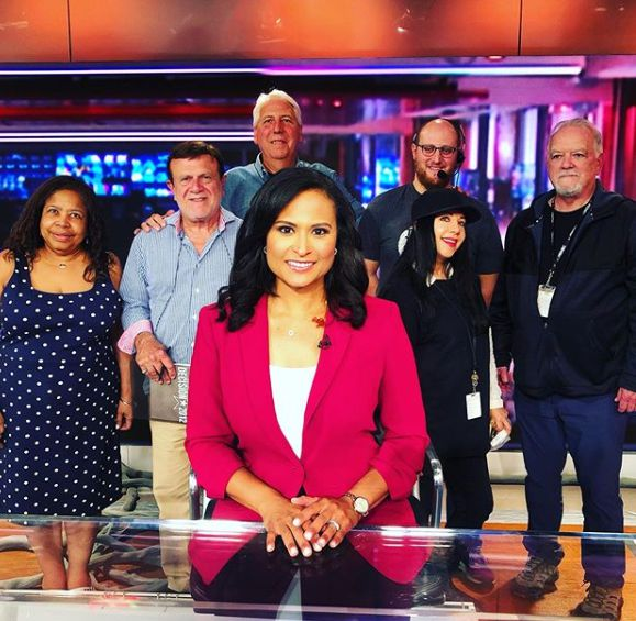 Kristen Welker with her co-worker