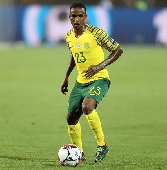 Thembinkosi Lorch playing for his nation