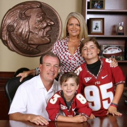 Jimbo Fisher with his ex-wife Candi Fisher and kids