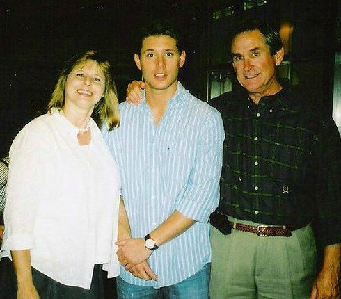 Donna Joan Shaffer-Ackles with her husband and son