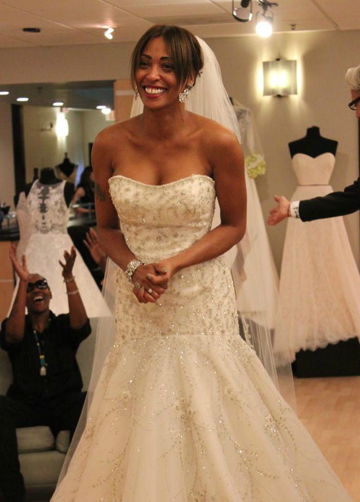 Kisha Chavis's wedding dress