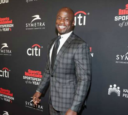 Akbar Gbaja-Biamila attends Sports Illustrated 2018 Sportsperson of the Year Awards Show on Tuesday, December 11, 2018 at The Beverly Hilton in Los Angeles