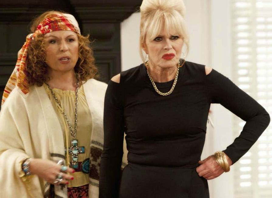 Jennifer Saunders acting with her co-actor