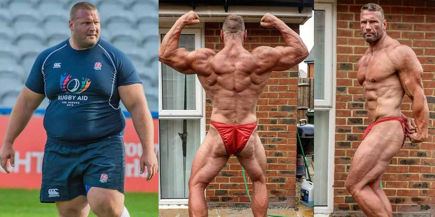 Terry Hollands transformed his body into new shape