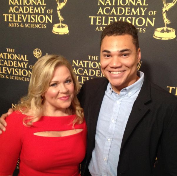 Holly Rowe sharing photo with her son