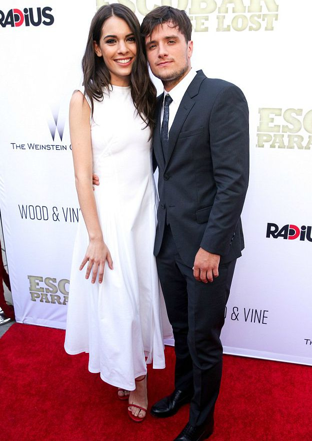 Josh Hutcherson with his girlfriend Claudia Traisac