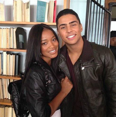 Keke Palmer with her ex-boyfriend