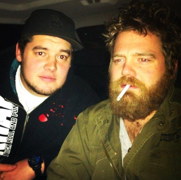 Baron Corbin with his brother Danny Pestock