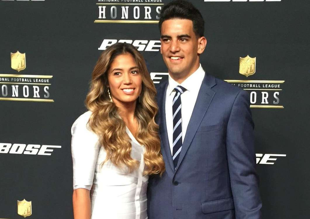 Marcus Mariota with his girlfriend, Kiyomi Cook