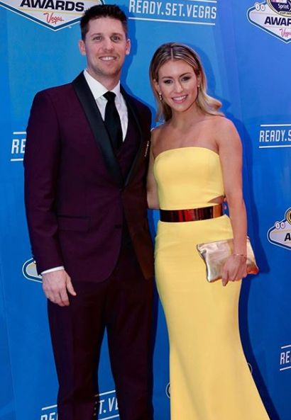 Denny Hamlin with his girlfriend in award show