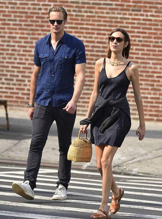 Alexander Skarsgard with his ex-girlfreind Alexa Chung