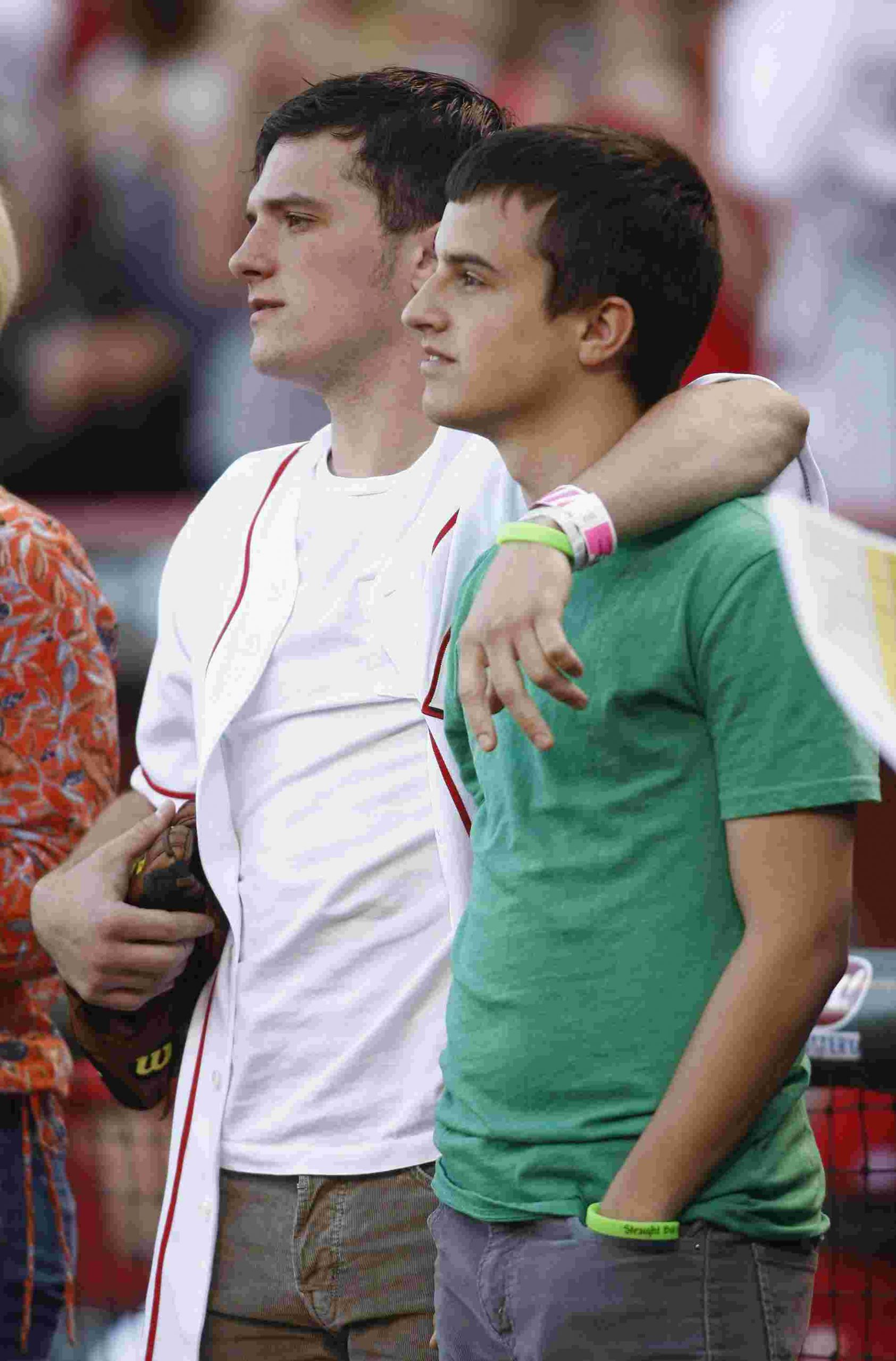 Josh Hutcherson with his younger brother