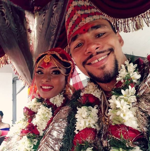 Keith Thurman married with his wife Priyana in Nepali Culture