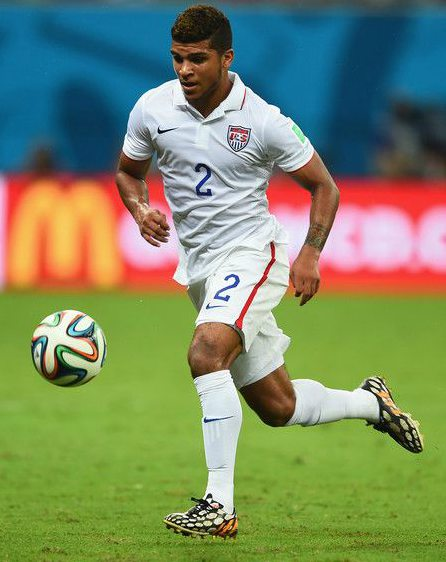 DeAndre Yedlin playing soccer in 2014 FIFA World Cup