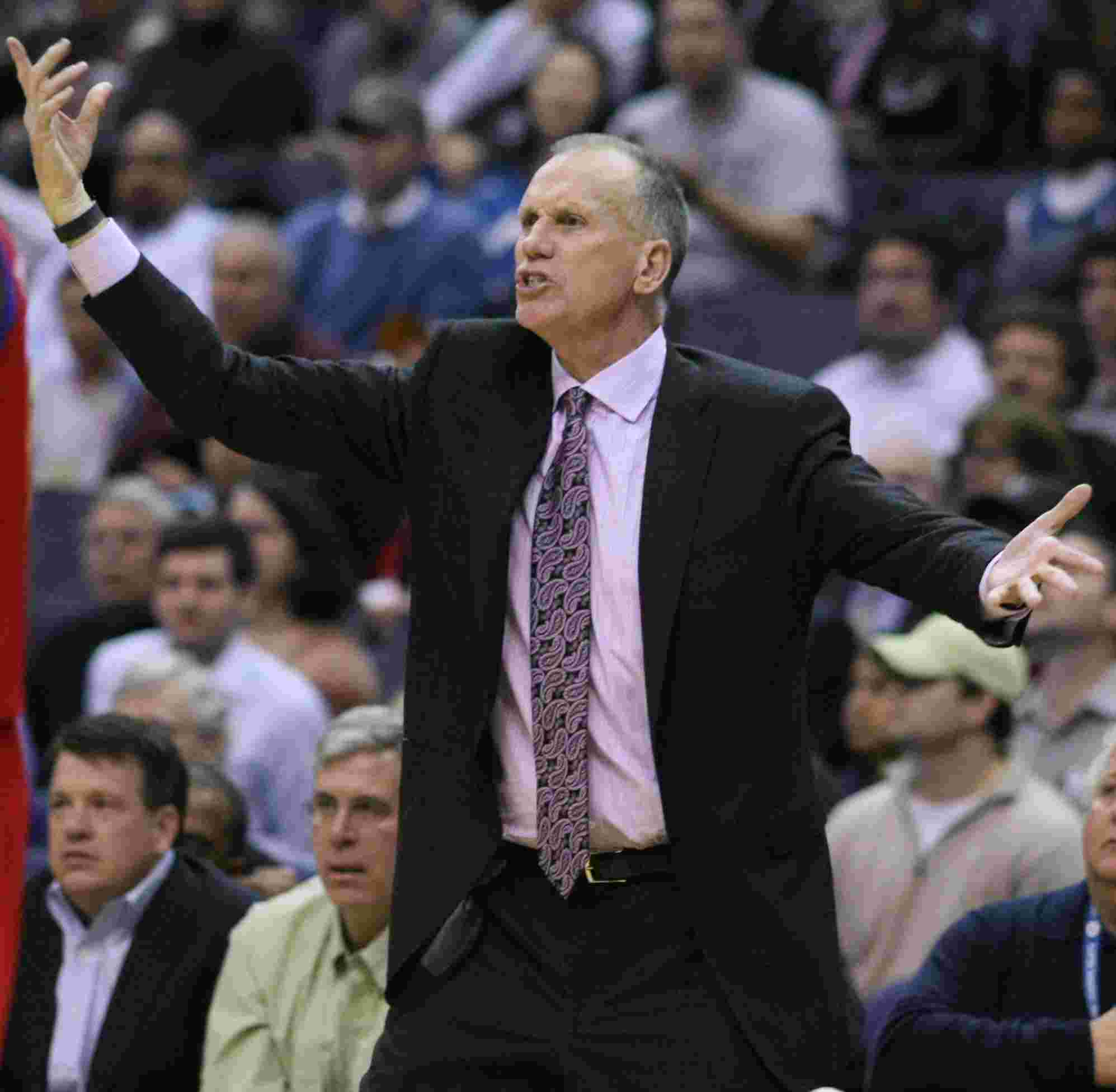 Doug Collins reaction while his team playing