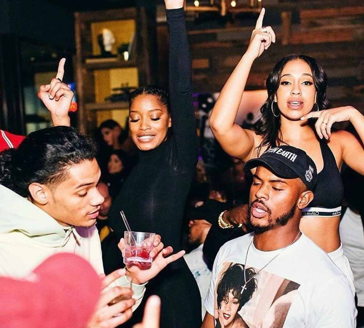 Keke Palmer partying with her friends and ex-boyfriend