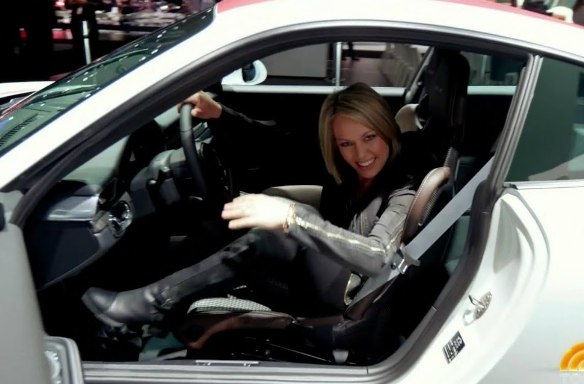 Dylan Dreyer on her car