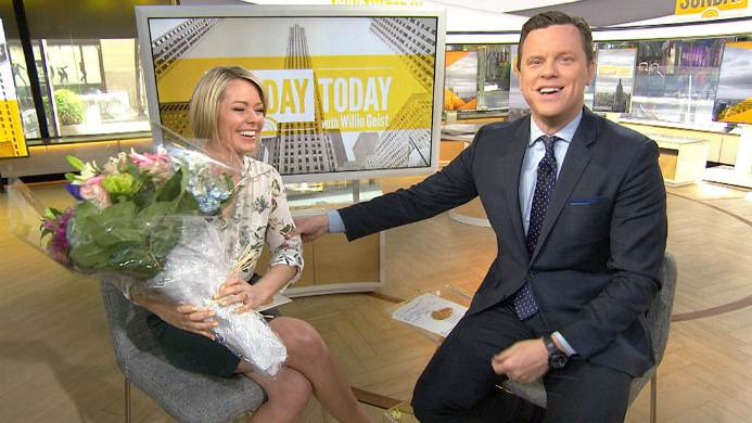 Dylan Dreyer with her co-worker, Willie Geist
