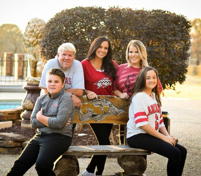 John Daly with his girlfriend and kids