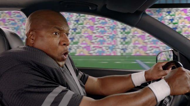 Bo Jackson driving a car