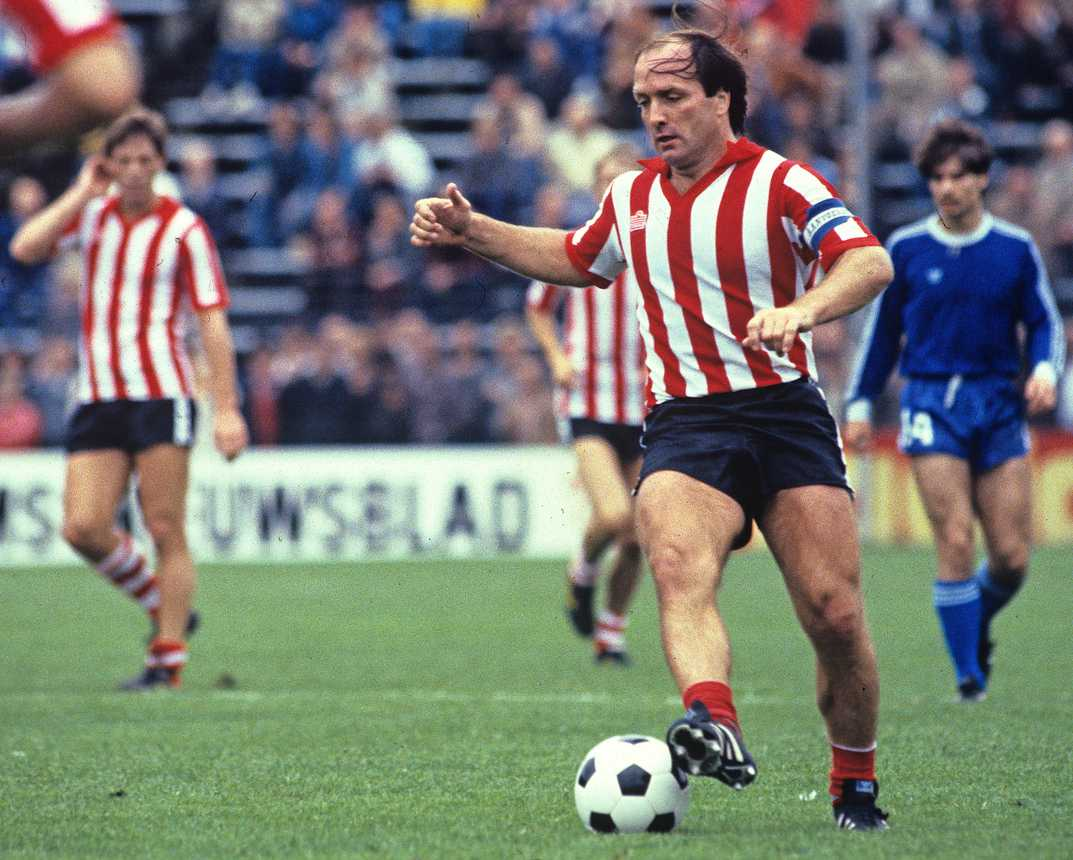 Dick Advocaat playing football for his team
