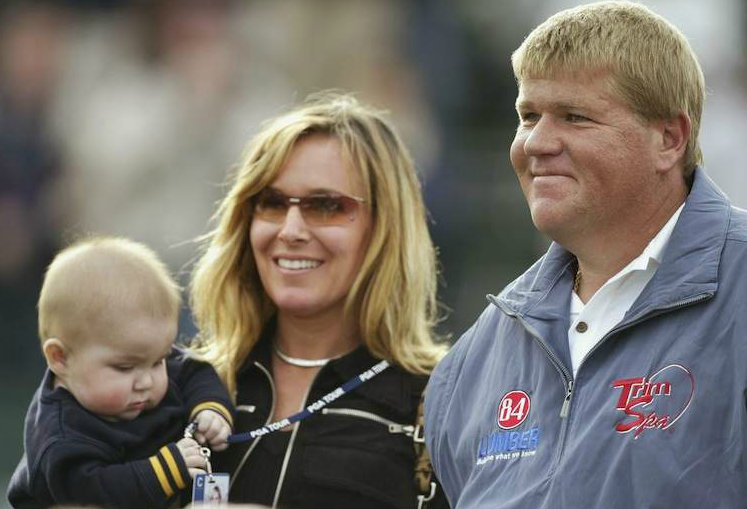 John Daly with his ex-wife and kids