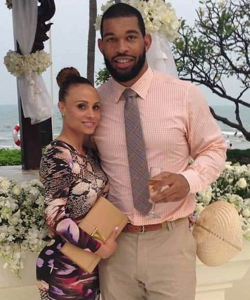 Julius Peppers with his ex-girlfriend