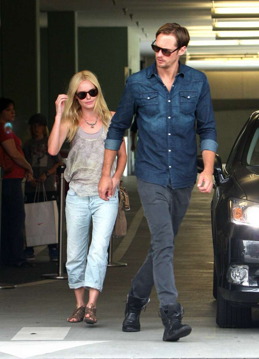 Alexander Skarsgard with his ex-girlfriend Kate Bosworth
