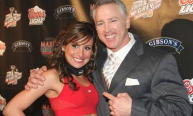 Matt Dunigan with his wife in a Award Show