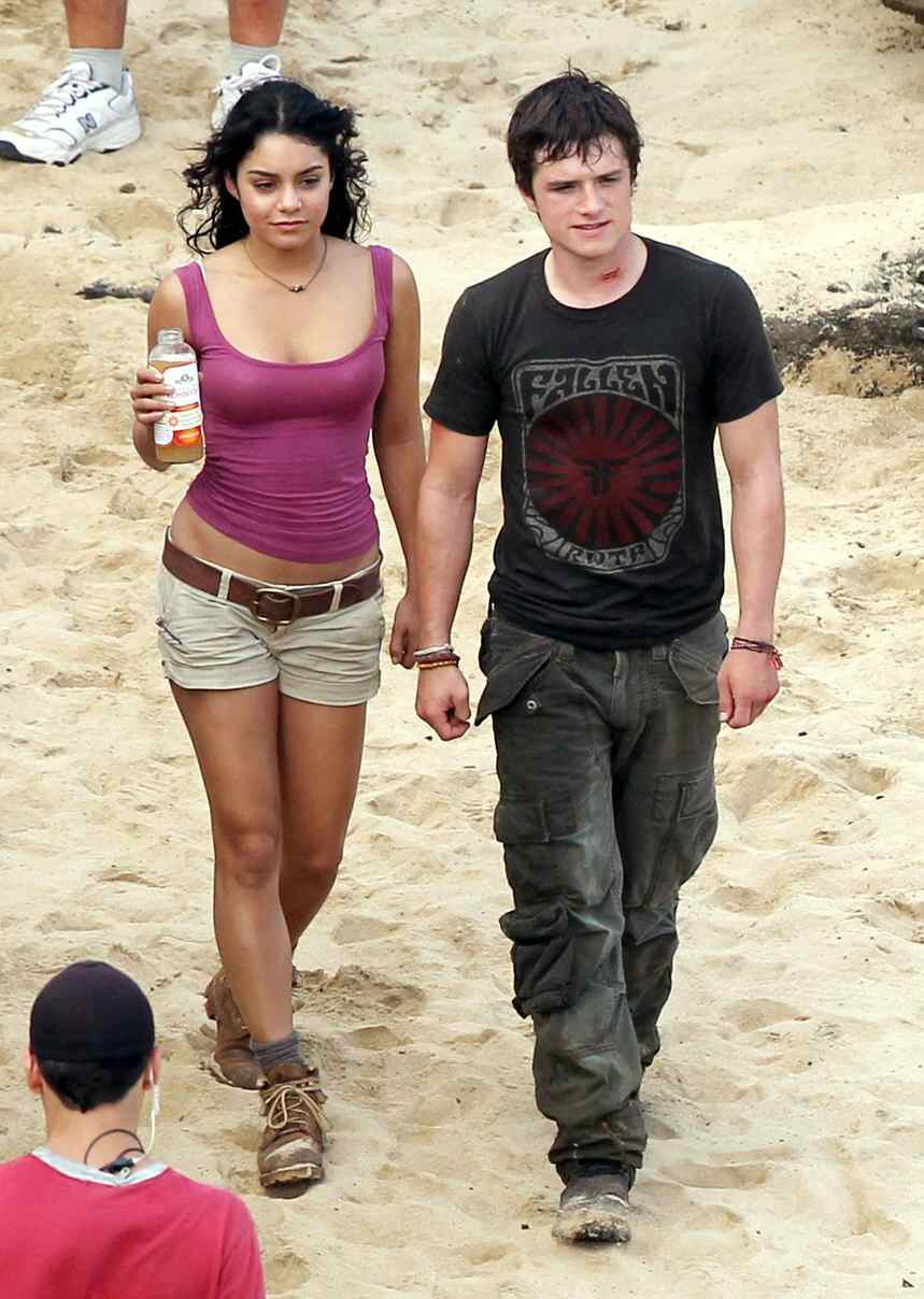 Josh Hutcherson with his ex-girlfriend Vanessa Hudgens