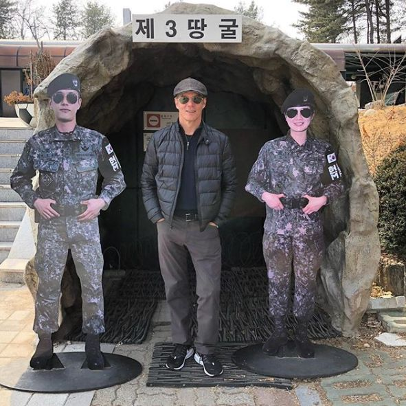 Bill Hemmer doing reporting in Korea