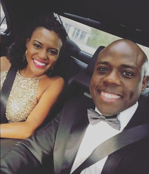 Janai Norman sitting inside the car with her co-host