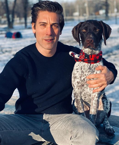 David Muir with a Dog