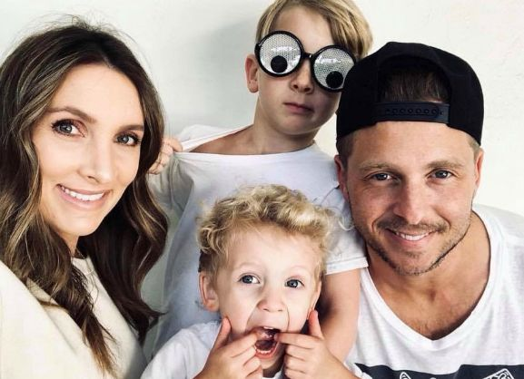 Genevieve Tedder with her husband, Benjamin Tedder and sons