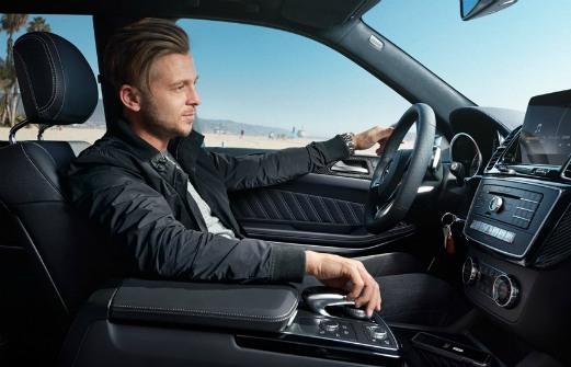 Genevieve Tedder's husband, Benjamin Tedder driving his car