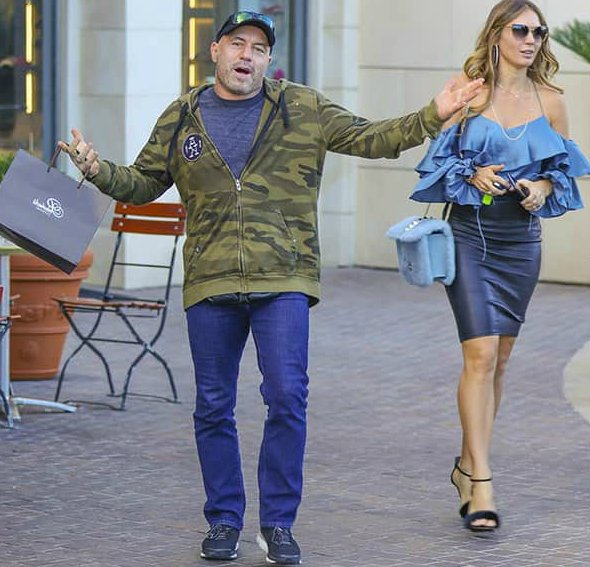 Jessica Ditzel with her husband doing shopping
