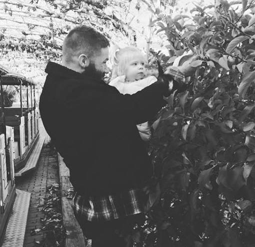 Julian Edelman with his daughter, Lily