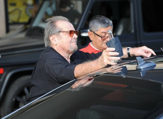Ray Nicholson's father, Jack Nicholson on his car