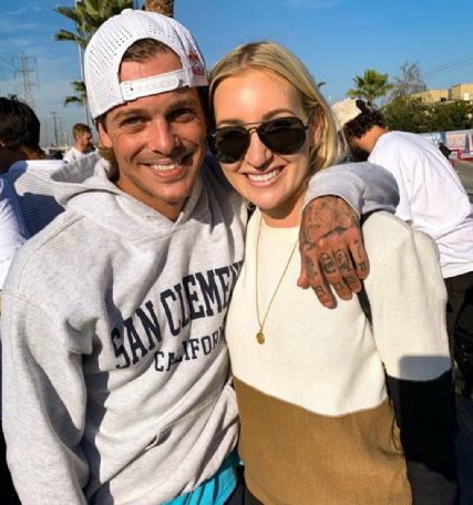 Ryan Sheckler with his girlfriend, Christina Perrault